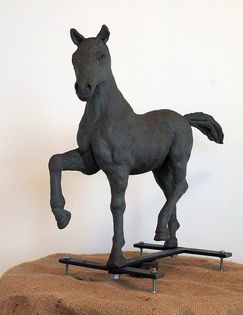 Study for the Horse in History (left diagonal side)