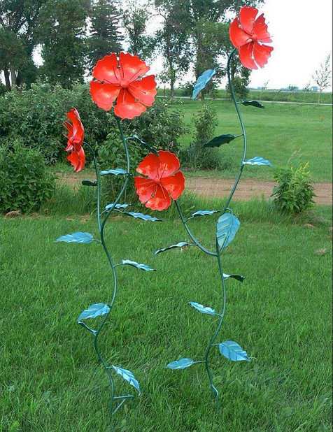 Orange Steel Poppies