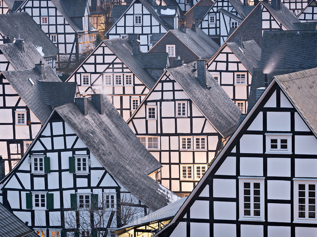 Half-timbered houses in Freundenberg