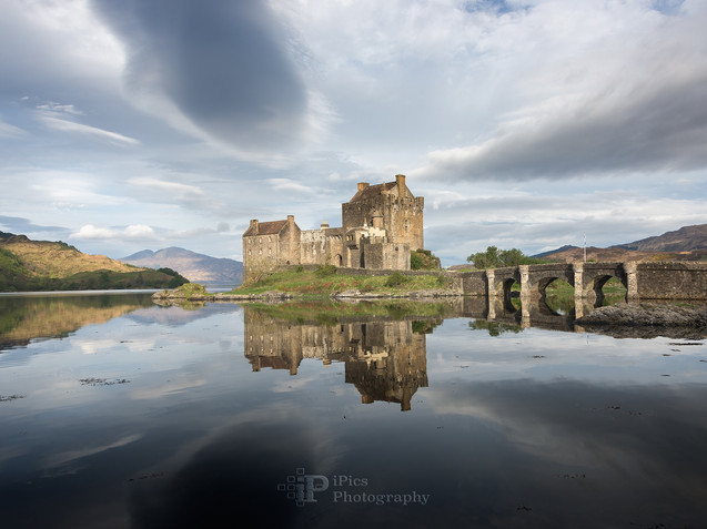 Eilean Donan castle with reflection in the water