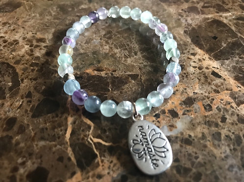 Flourite Charm Bracelet | Namaste