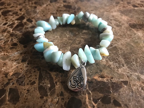 Chunky Amazonite Charm Bracelet | Aum