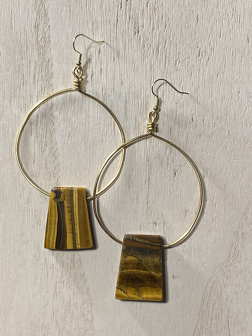 Statement Hoops | Tiger's Eye