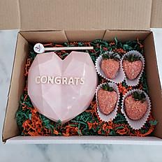Chocolate Breakable Heart & Strawberries