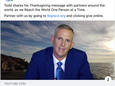 Todd shares his Thanksgiving message with partners around the world.
