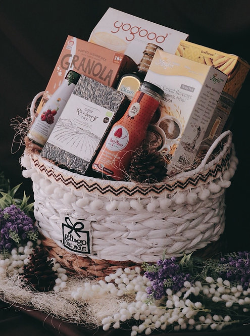 1021NY1914 - C19-1 NY Gift Basket L Tribal Design