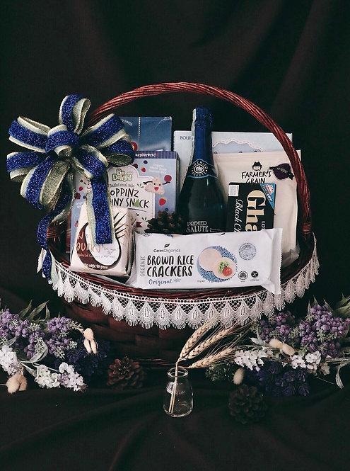 1021NY1907 - C19-1 NY Gift Basket L Blue Sea