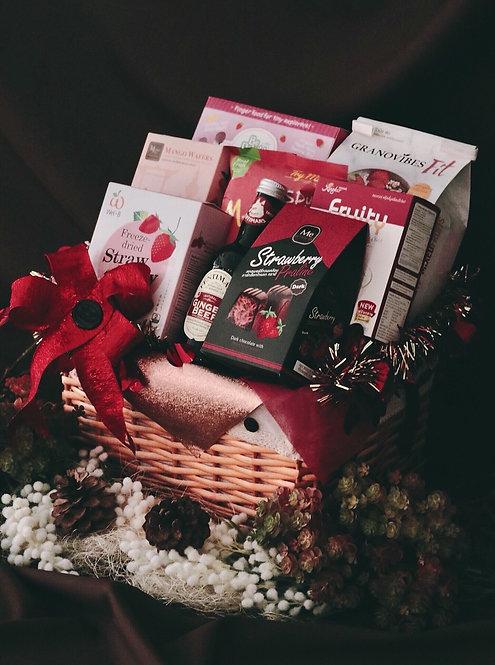1021NY1906 - C19-1 NY Gift Basket S Red - Pink