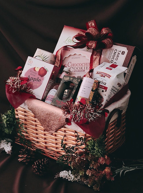 1021NY1905 - C19-1 NY Gift Basket L Red