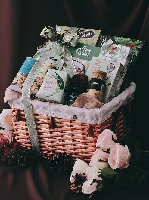 1021NY1909 - C19-1 NY Gift Basket M Green Forest