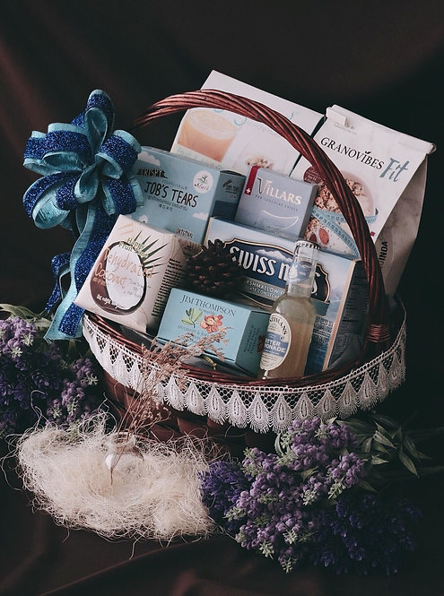 1021NY1908 - C19-1 NY Gift Basket M Blue Sea