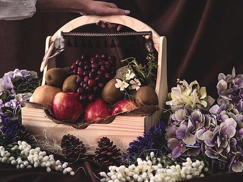 1021NY1915 - C19-1 NY Gift Basket L Bohemian Wood Fruity