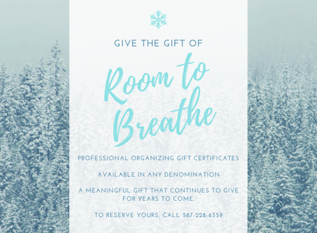 Give the Gift of Room To Breathe!