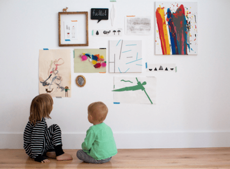 Creative Ideas for Storing Children's Artwork