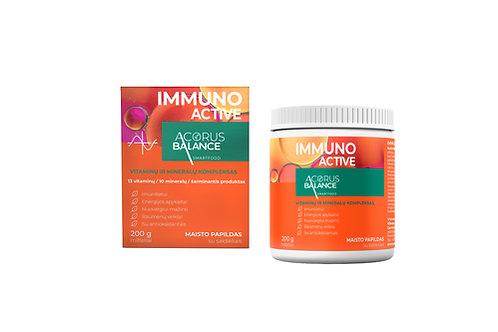 IMMUNO ACTIVE, vitaminų ir mineralų kompleksas, 200 g.