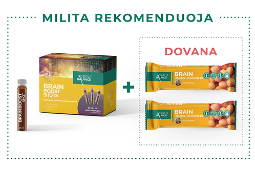 BRAIN BOOST shots + dovana