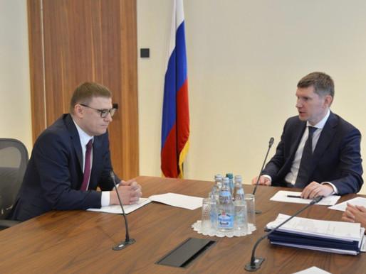 Максим Решетников и Алексей Текслер обсудили вопросы социально-экономического развития региона