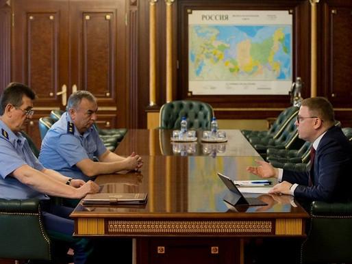 Алексей Текслер встретился с заместителем Генерального прокурора РФ Сергеем Зайцевым