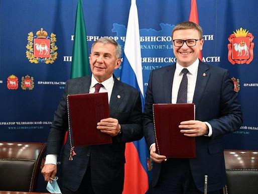 Алексей Текслер и Рустам Минниханов подписали соглашение о сотрудничестве