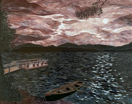 A Windy, Moonlit Night on Pine Lake