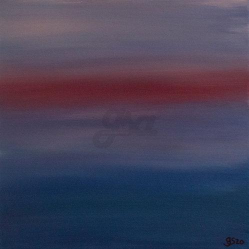 Hazy Sunset Seascape 2