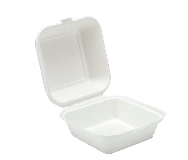 "Bagasse burger box - 6"" compostable"