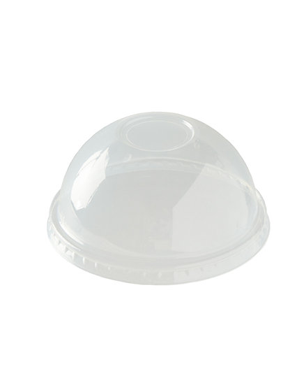 PLA Domed Smoothie Lid to fit 9oz to 20oz Cup - compostable