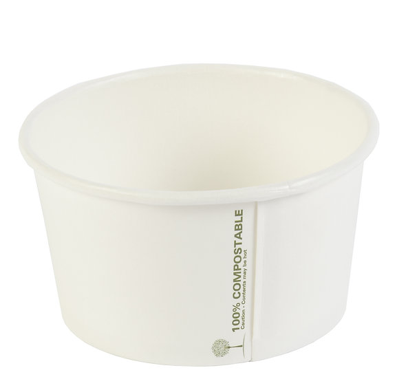 12oz White Compostable Soup Container