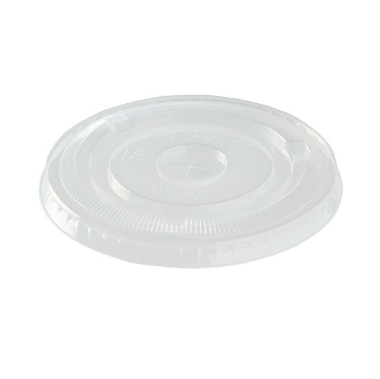 PLA Flat Smoothie Lid to fit 9oz to 20oz Cup - compostable
