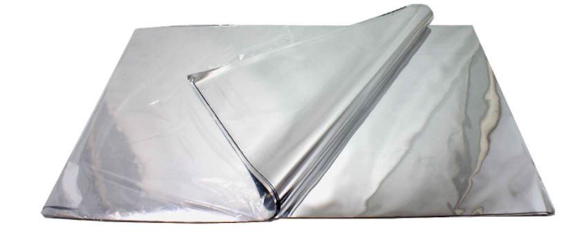 "Silver Foil Sheets 10.75 x 12"""