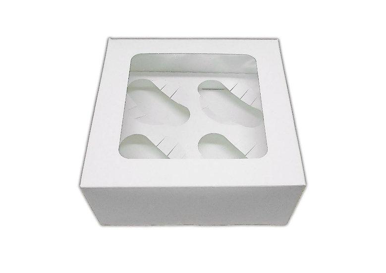 Cupcake box- holds 4 cupcakes