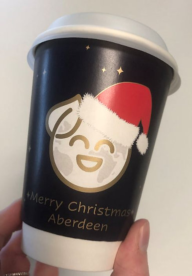 12oz Merry Christmas Aberdeen charity cups