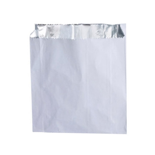 Foil lined white bags 7x9x8""