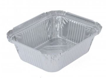 Foil food tray size 2