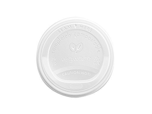 Vegware 79S hot cup lid - white (8oz)