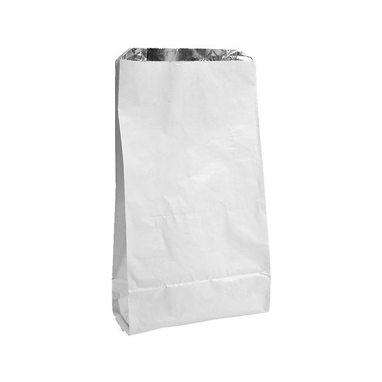 """Foil lined white bags 7x9x12"""""""