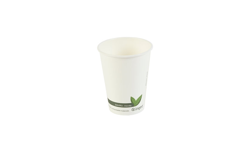 White Compostable Hot Drink Paper Cup 8oz