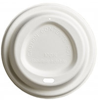 Compostable Domed Sip-thru Lid to fit 12oz cup
