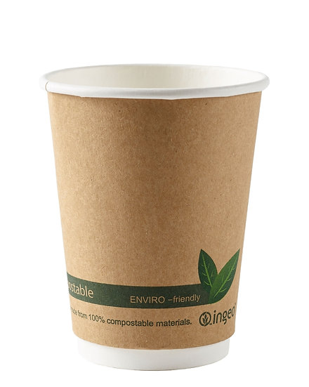 Kraft Compostable Double Wall Cup
