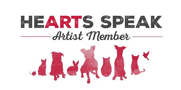 Hearts Speak Artist Member Badge
