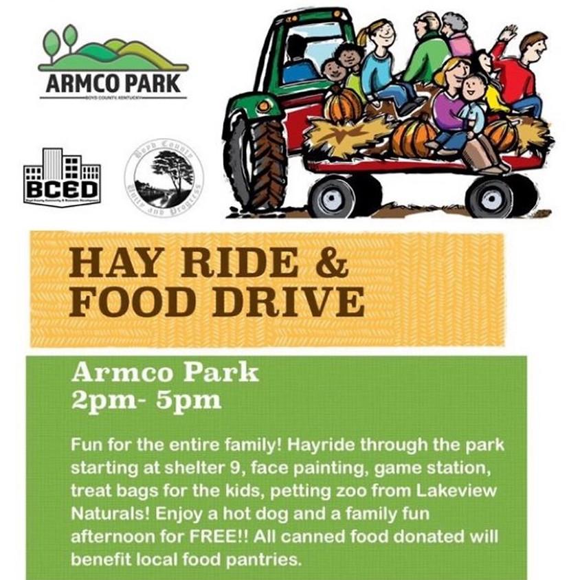 Hay Ride & Food Drive