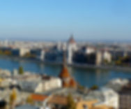 View of Budapest from the Buda Castle district on my private tour