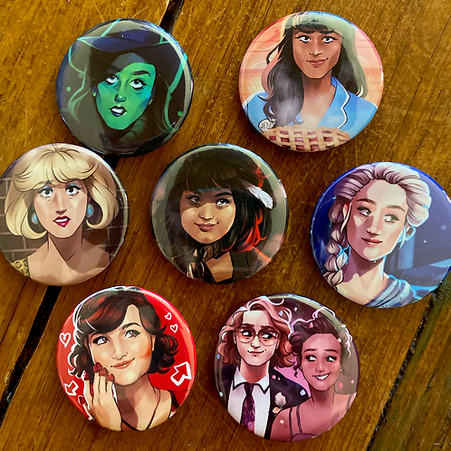women of theatre: buttons