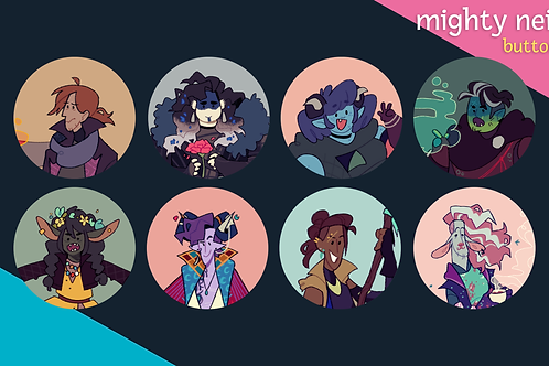 mighty nein: buttons