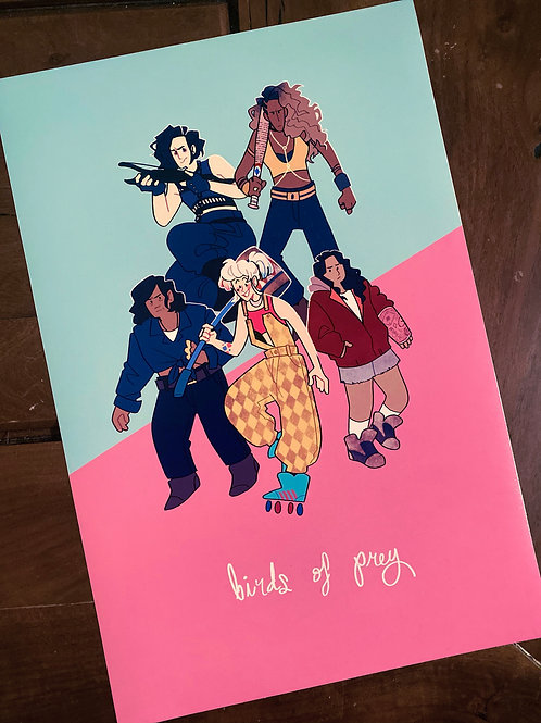 birds of prey: print