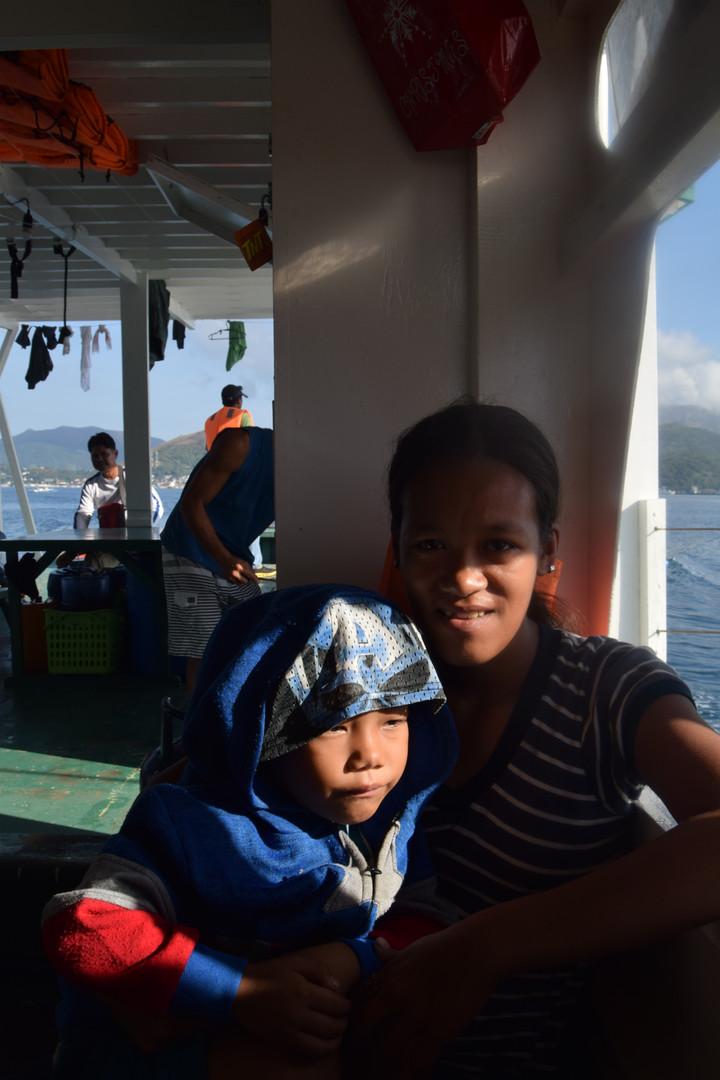 Family in ferry to Cebu