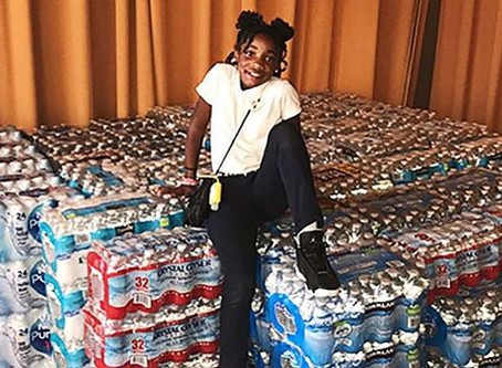 #MiniMogul Dashai Morton Collects Water for Puerto Rico for HER Birthday