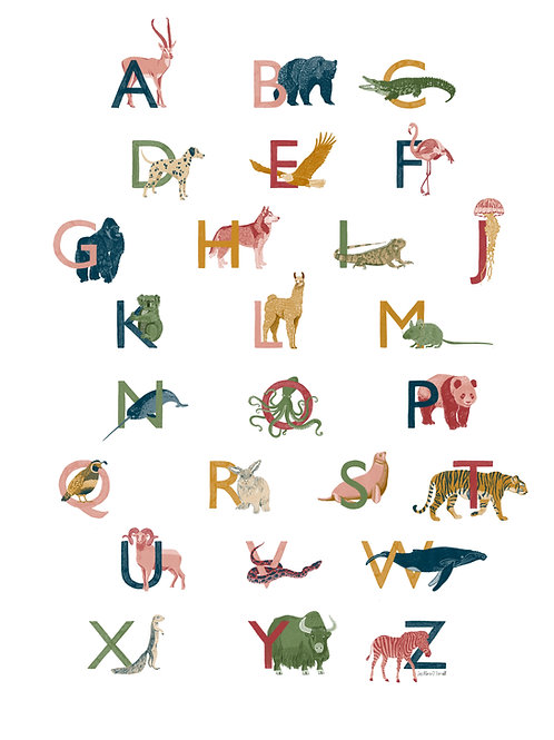 Animal Alphabet - £10 from every sale will be donated to War Child