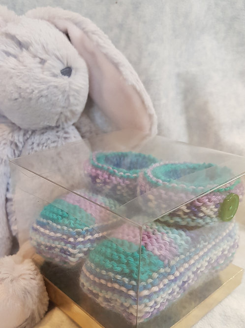 Medium Purple and Turquoise Cosy Toes