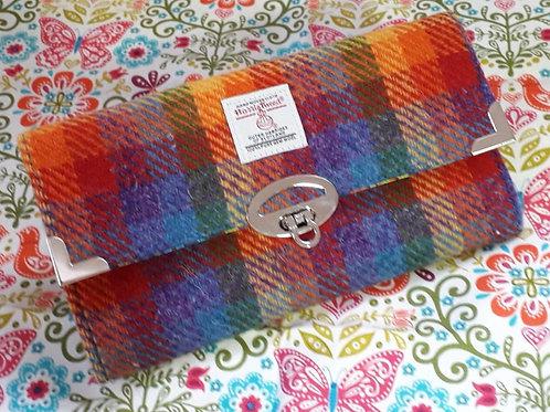 """""""Worsley Wallet"""" Rainbow Harris Tweed"""